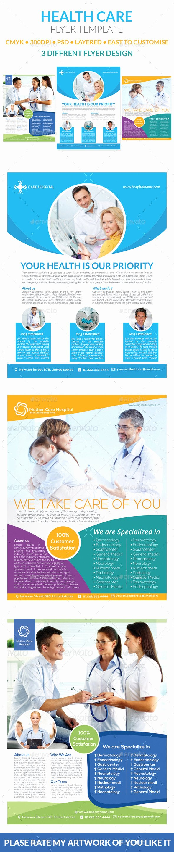 Home Health Care Flyers Unique Health Care Flyer Templates by Graphicshint