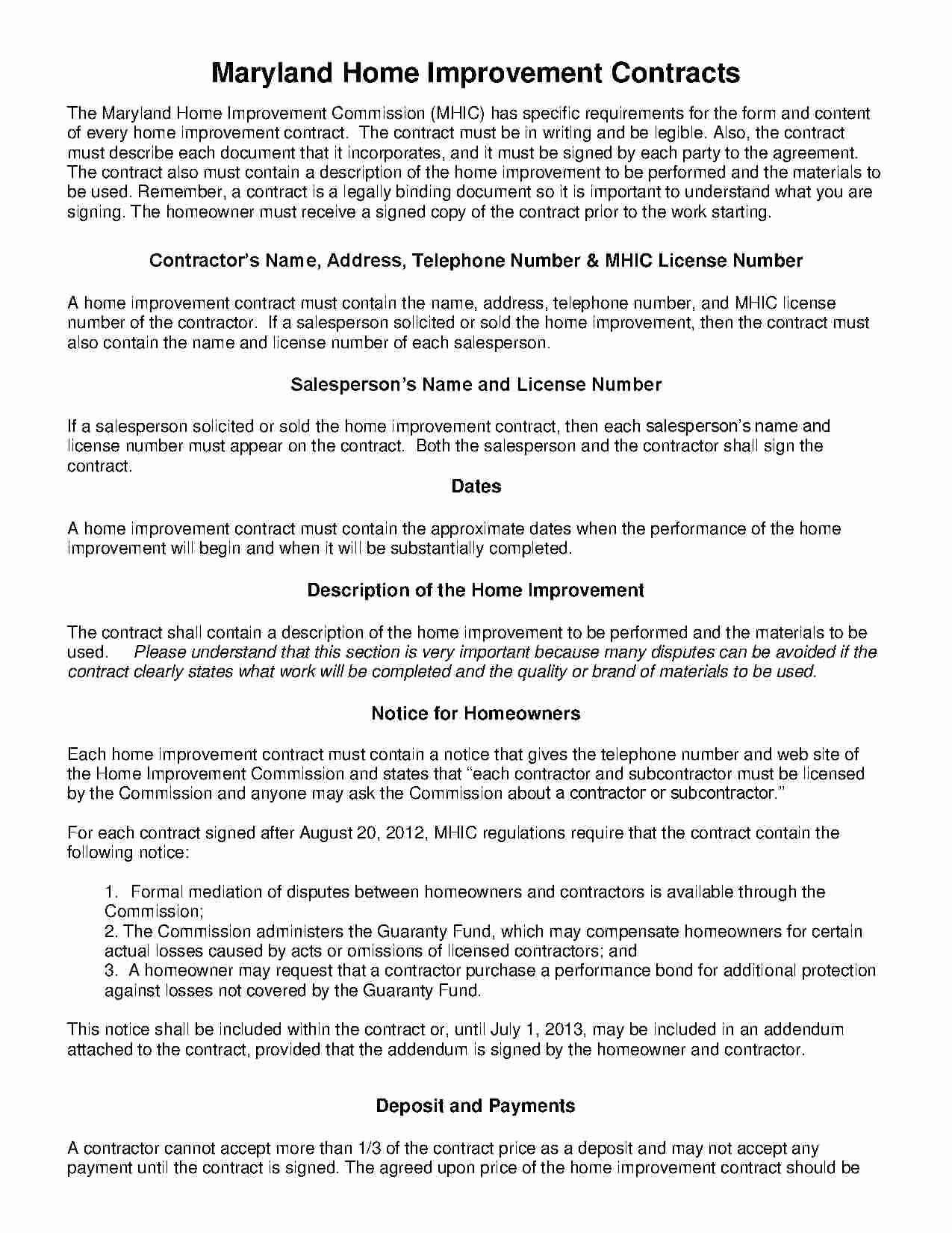 Home Improvement Contract Template Lovely Download Home Improvement Contract Style 18 Template for Free at Templates Hunter