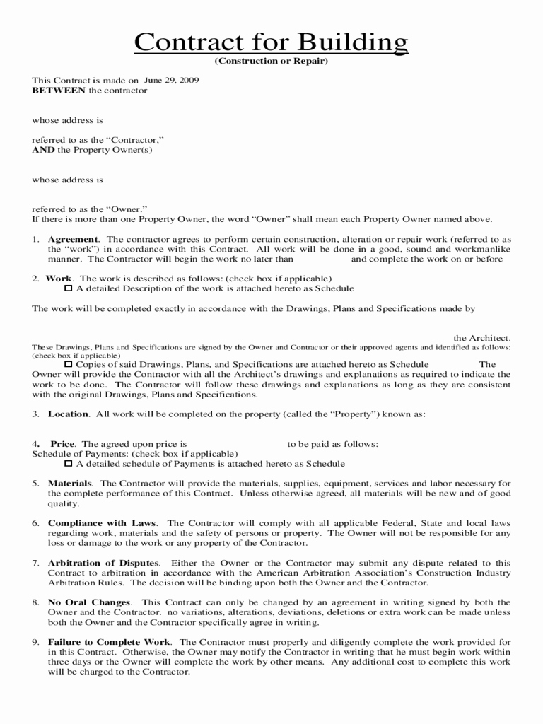 Home Improvement Contract Template Lovely Home Improvement Contract Template 3 Free Templates In Pdf Word Excel Download