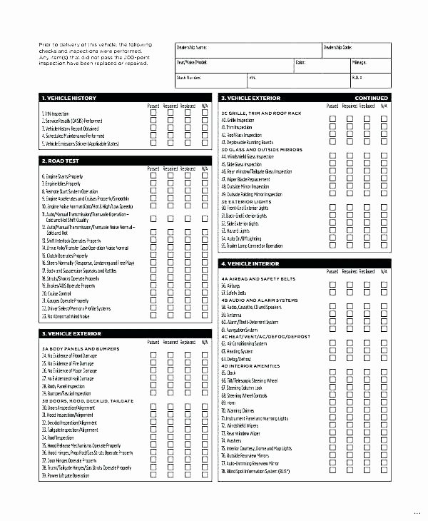 Home Maintenance Schedule Spreadsheet Beautiful Cleaning Inspection Checklist Template