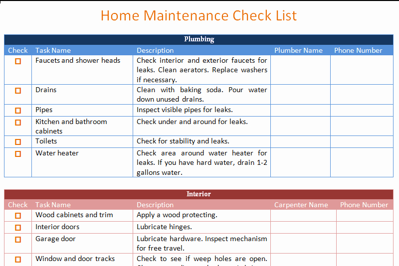 Home Maintenance Schedule Spreadsheet Best Of Home Maintenance Schedule Spreadsheet