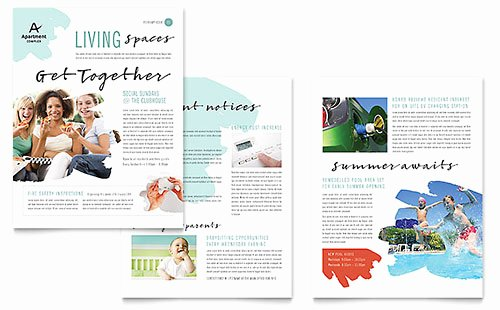 Homeowners association Newsletter Template Awesome Free Newsletter Templates Download Newsletter Designs