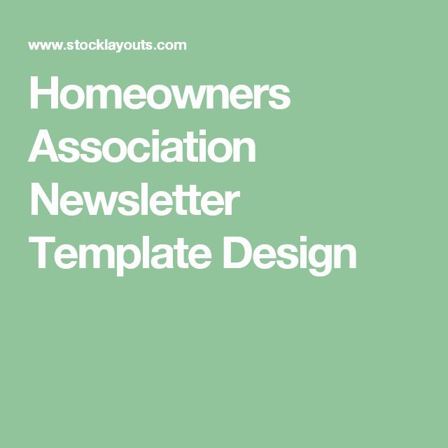Homeowners association Newsletter Template Awesome Homeowners association Newsletter Template Design Hoa