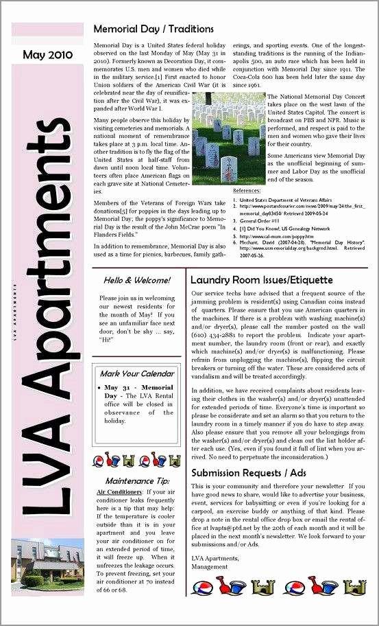 Homeowners association Newsletter Template Luxury Fresh Free Hoa Newsletter Templates