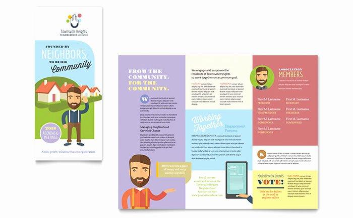 Homeowners association Newsletter Template Luxury Homeowners association Brochure Template Design