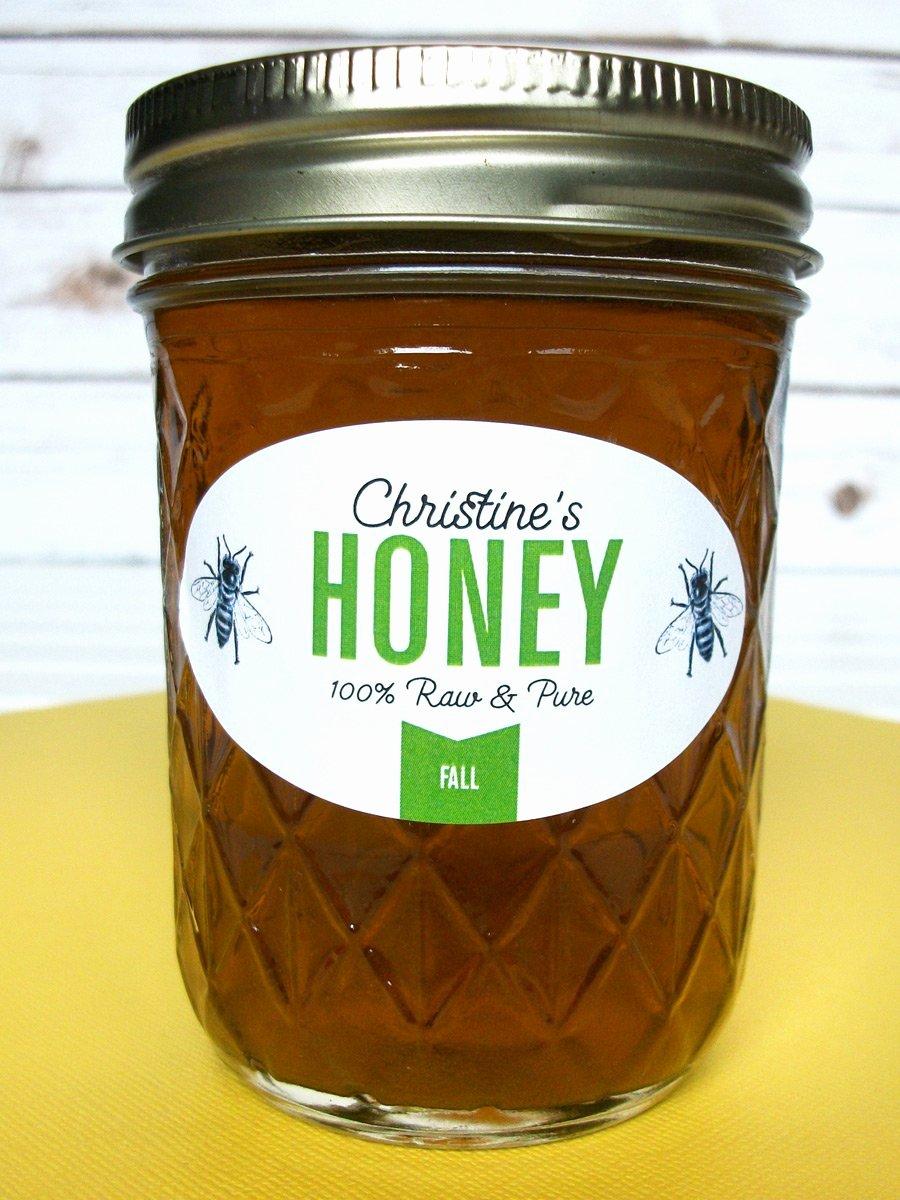 Honey Jar Labels Printable Awesome Custom Colorful Oval Honey Jar Labels Printed for Backyard