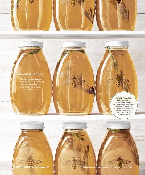 Honey Jar Labels Printable Best Of Country Living Printables Incredible Edible Gifts and