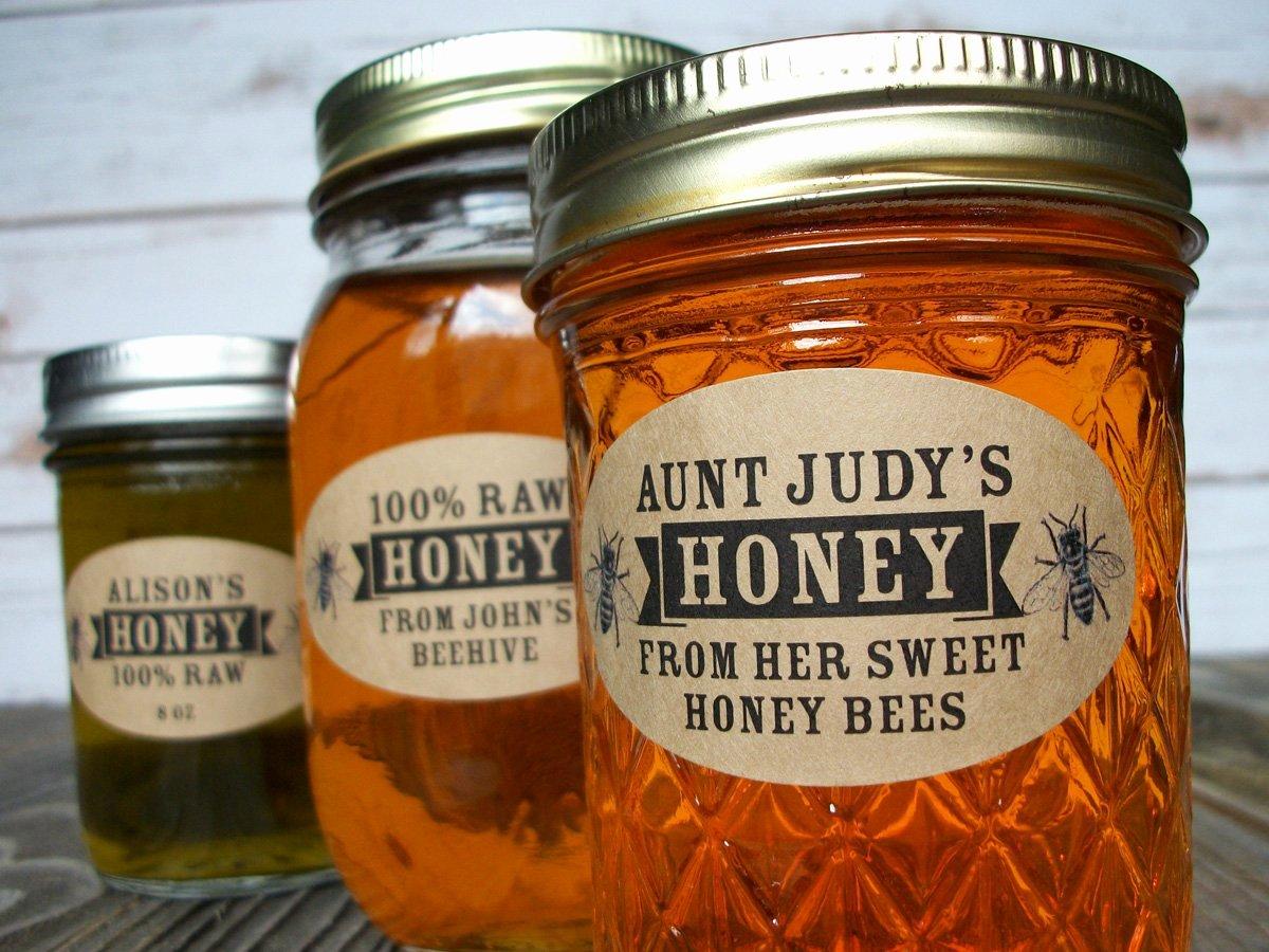 Honey Jar Labels Printable Elegant Custom Kraft Oval Honey Jar Labels Ts for Backyard