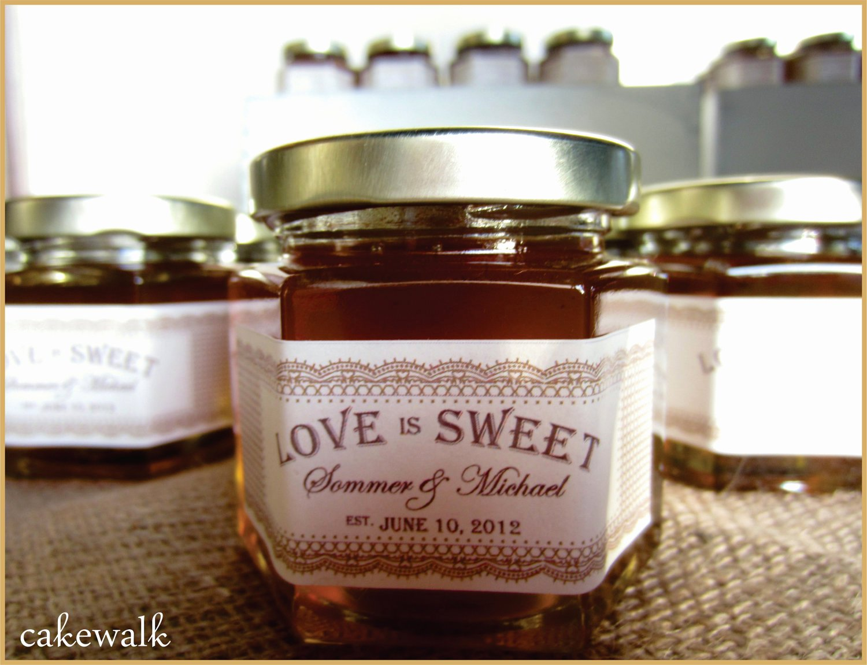 Honey Jar Labels Printable Elegant Honey Jar Favor Labels