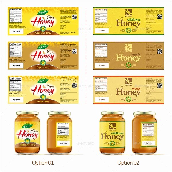 Honey Jar Labels Template Awesome 26 Label Templates Free Psd Ai Eps format Download