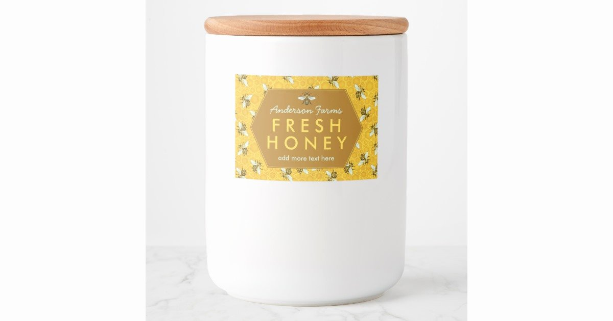 Honey Jar Labels Template Best Of Homemade Honey Jar Labels Bees Honey B Custom