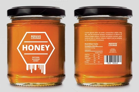 Honey Jar Labels Template Lovely Honey Label