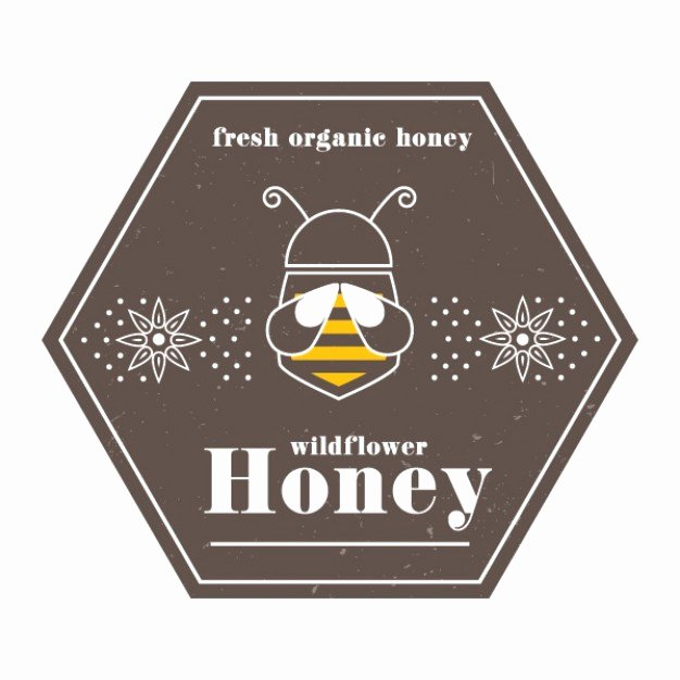Honey Jar Labels Template Luxury Honey Label Vector