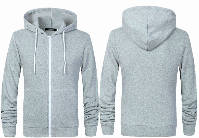 Hoodie Front and Back Beautiful Mens Fleece Hoo Zip Up Hoody Rockberry Premium Quality Brand New Grey top