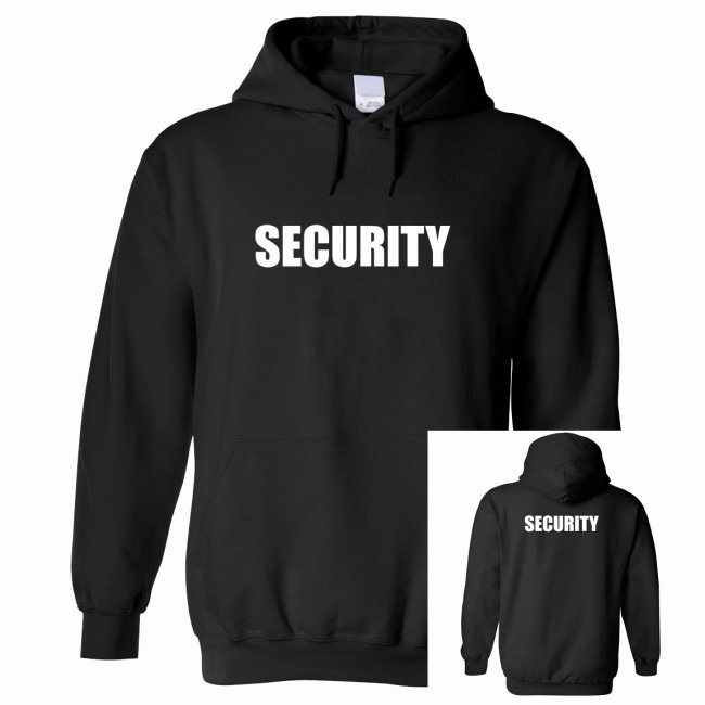 Hoodie Front and Back Lovely Hoo Security Front & Back Print