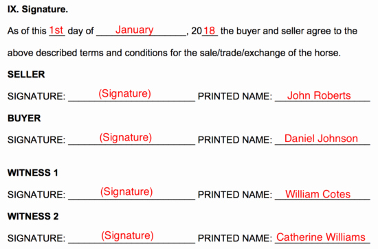 Horse Bill Of Sale forms New Free Horse Bill Of Sale form Word Pdf