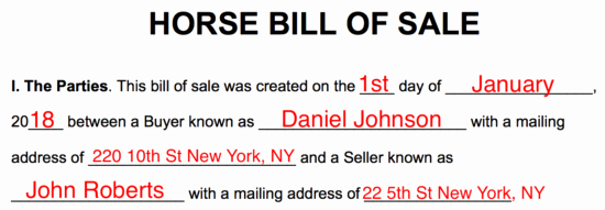 Horse Bill Of Sale Pdf Inspirational Free Horse Bill Of Sale form Word Pdf