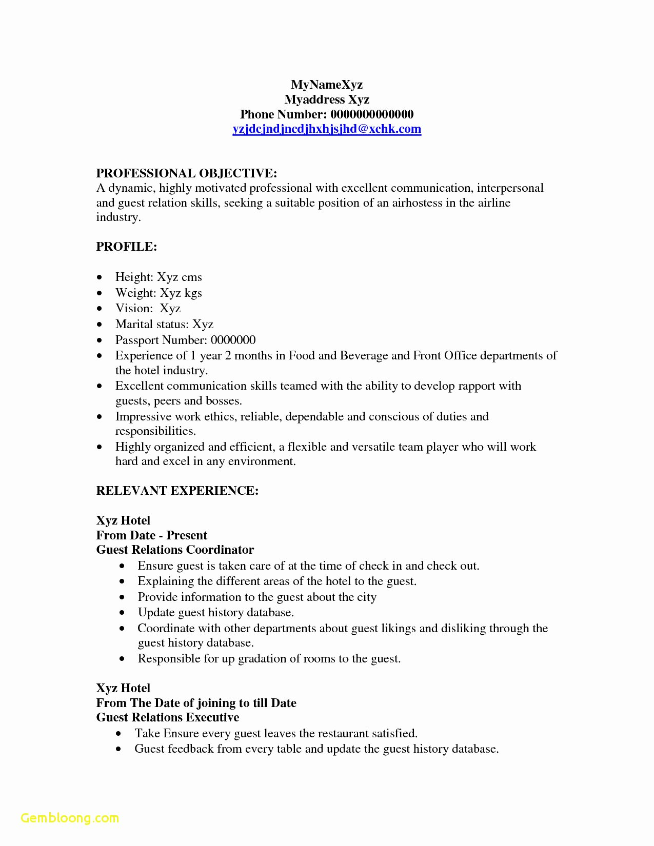 Hostess Job Description for Resume Elegant Hostess Job