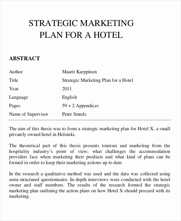 Hotel Business Plan Pdf Best Of 21 Marketing Plan Templates Psd Word