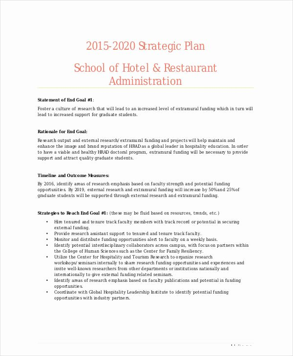 Hotel Business Plan Pdf Elegant 11 Restaurant Strategic Plan Samples & Templates Pdf Doc