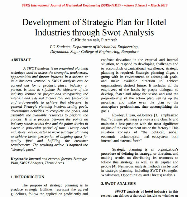 Hotel Business Plan Pdf Inspirational 7 Hotel Swot Analysis Examples Pdf