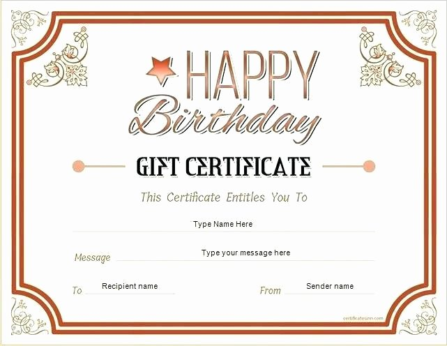 Hotel Gift Certificate Template Elegant Free Customizable Birthday Gift Certificate Template Gift Ideas