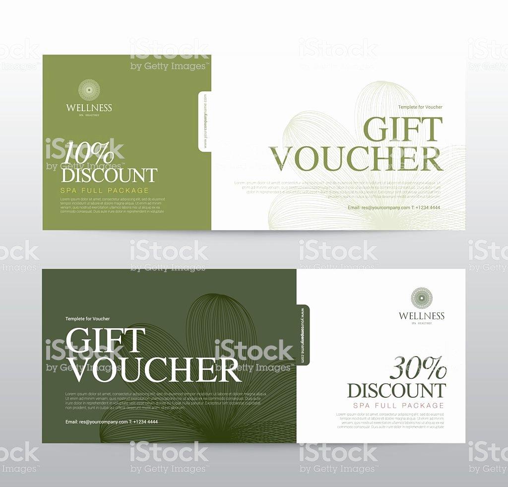 Hotel Gift Certificate Template Lovely Gift Voucher Template for Spa Hotel Resort Vector Illustration Stock Vector Art