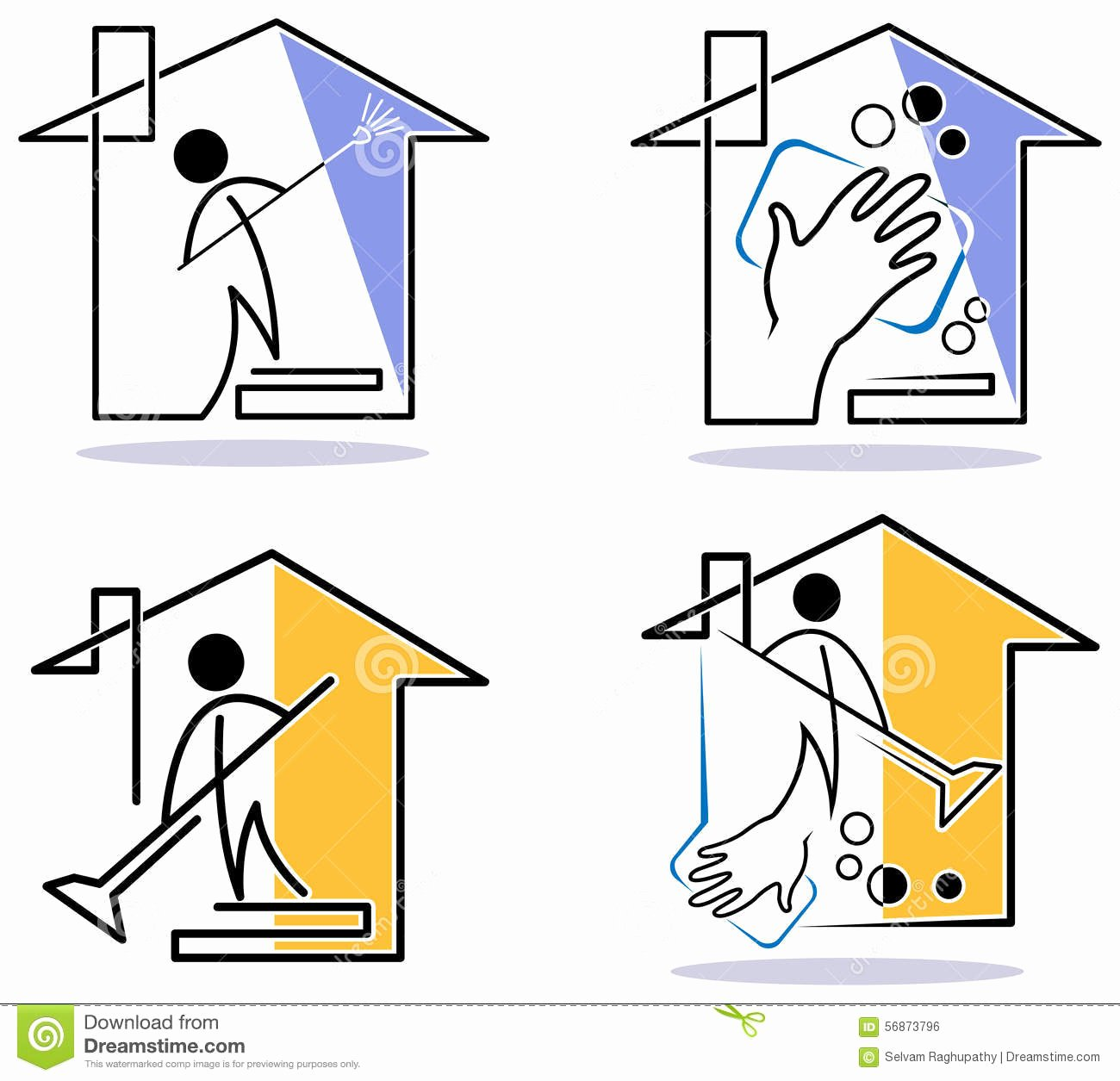 House Cleaning Logo Images Awesome House Cleaning Logo Set Stock Illustration Image