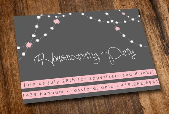 Housewarming Invitation Template Microsoft Word Beautiful Printable Housewarming Invitation Pink Lights