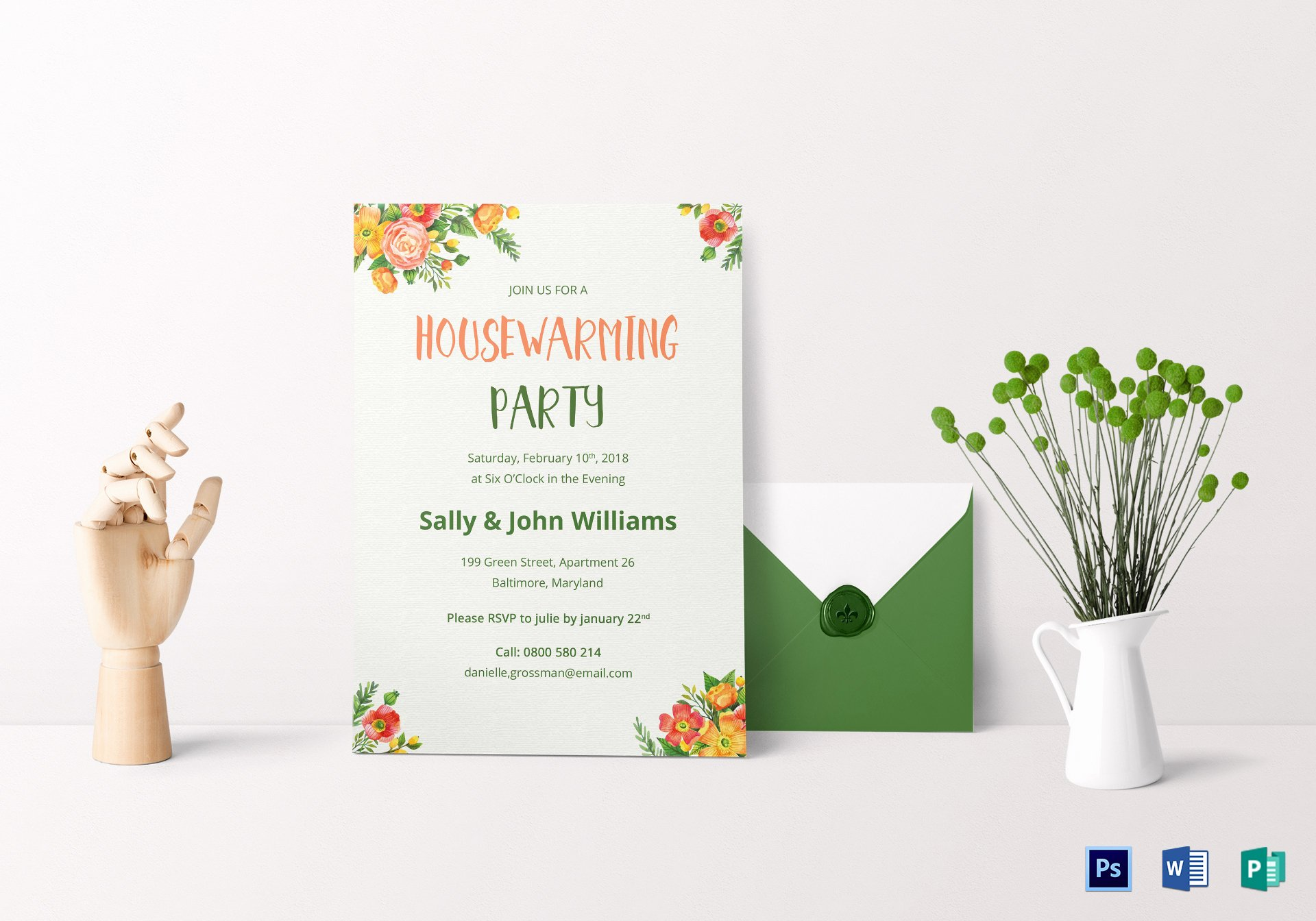 Housewarming Invitation Template Microsoft Word Inspirational Colorful Housewarming Invitation Design Template In Psd Word Publisher