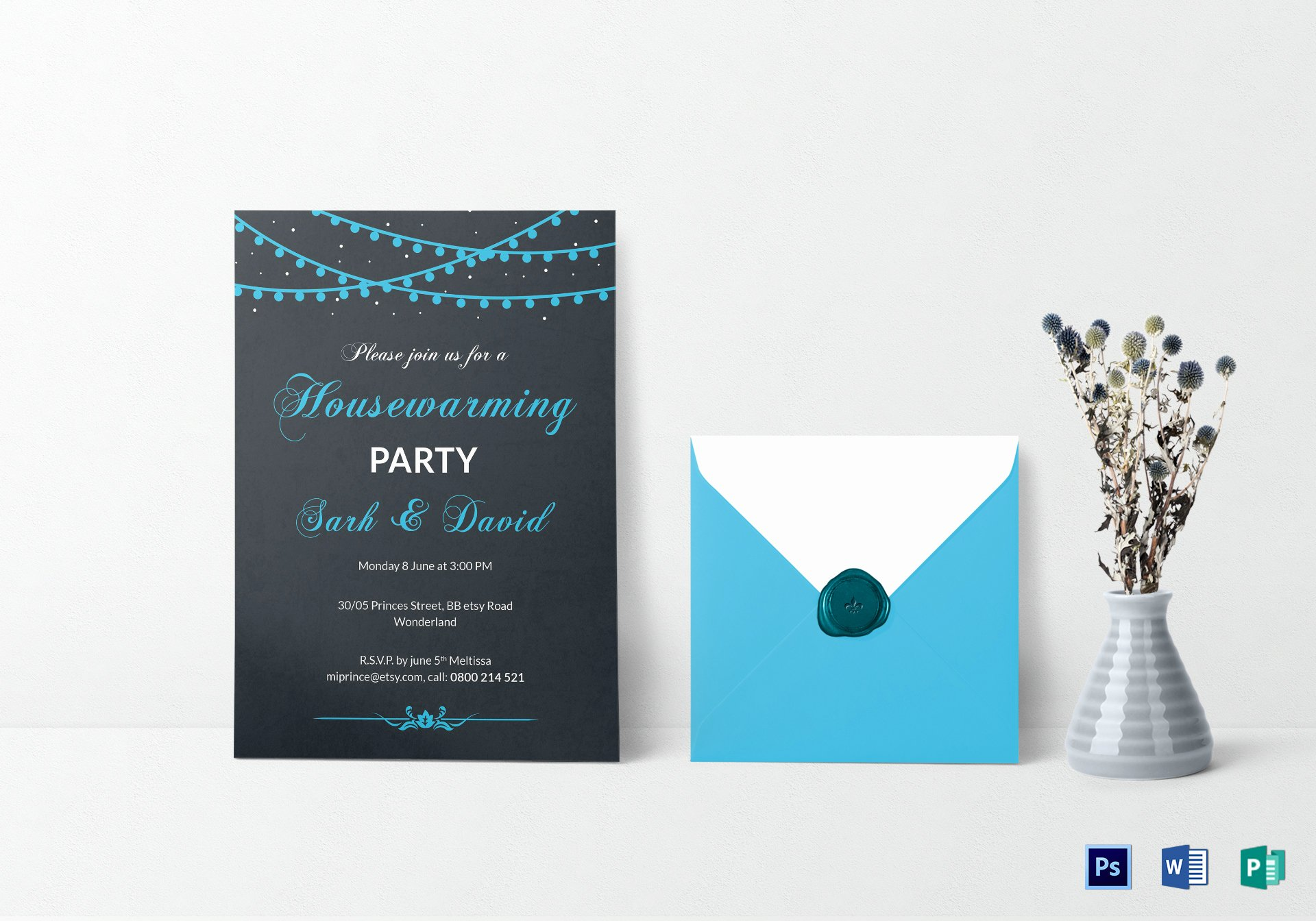 Housewarming Invitation Template Microsoft Word Unique Classic Housewarming Invitation Design Template In Psd Word Publisher