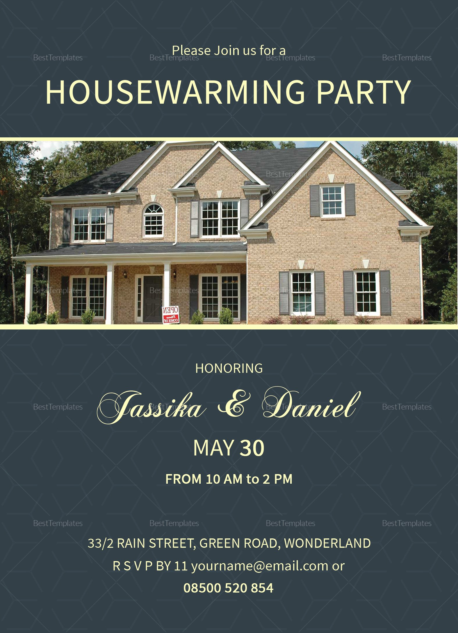 Housewarming Invitation Template Microsoft Word Unique Unique Housewarming Invitation Design Template In Psd Word Publisher