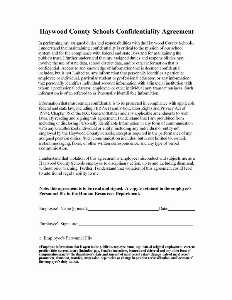 Human Resources Confidentiality Agreement Awesome Human Resources Confidentiality Agreement form Sample Pdf Pdf format