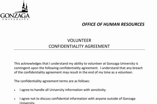 Human Resources Confidentiality Agreement Fresh 9 Human Resources Confidentiality Agreement Templates Free Download