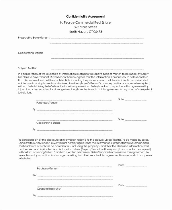Human Resources Confidentiality Agreement Luxury Confidentiality Agreement Template 16 Free Pdf Word Download Documents