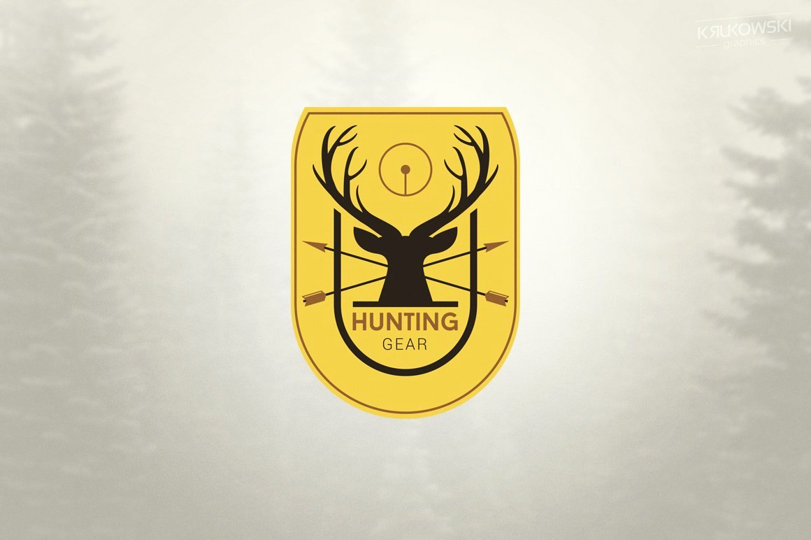 Hunting Logo Design Templates Awesome Hunting Logo Logo Templates Creative Market