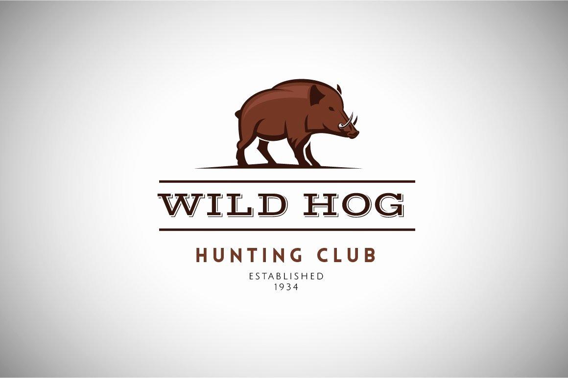 Hunting Logo Design Templates Best Of Wild Hog Vintage Logo Template Logo Templates Creative Market