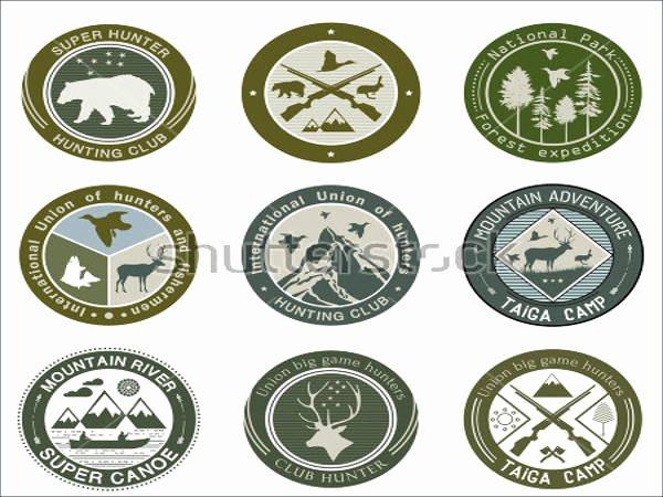Hunting Logo Design Templates Elegant 21 Hunting Logos Free Psd Ai Vector Eps format Download