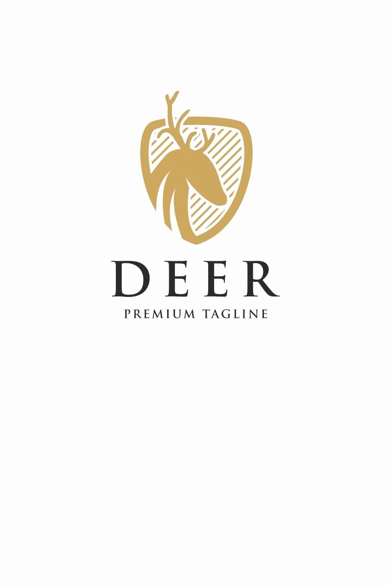 Hunting Logo Design Templates Elegant Deer Shield Logo Template New Collection