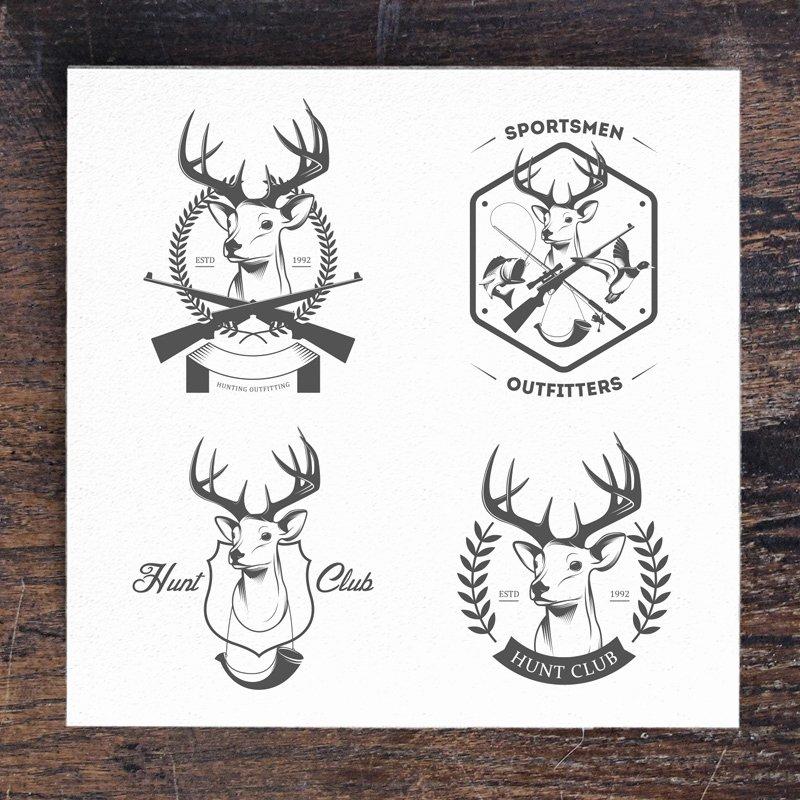 Hunting Logo Design Templates Inspirational Vintage Hunting Logos Set 3 Logo Templates On Creative Market