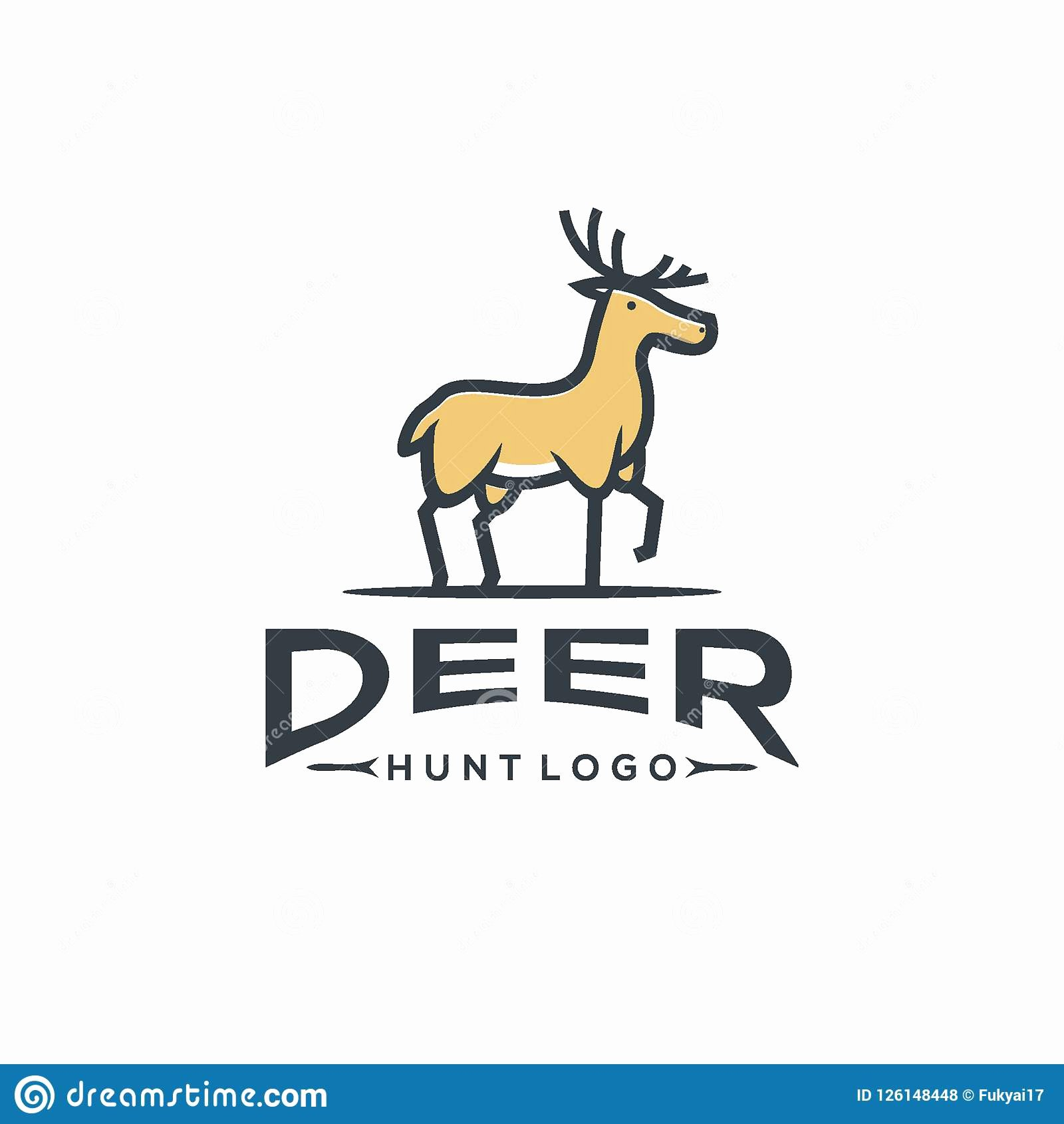 Hunting Logo Design Templates New Deer Head Vector Design Template Hunting Cartoon Vector