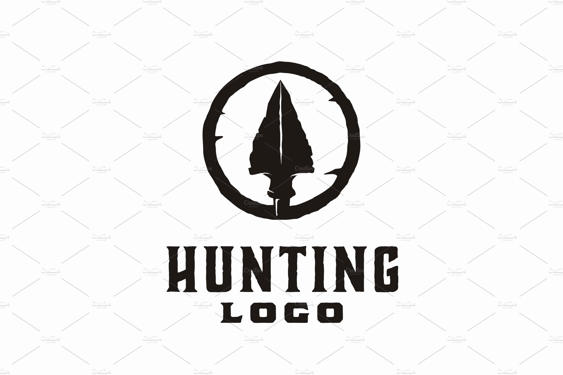 Hunting Logo Design Templates New Hipster Rustic Arrowhead Hunt Logo Logo Templates Creative Market