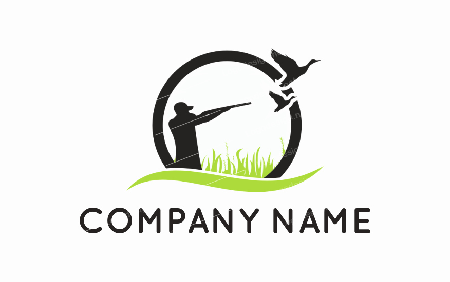 Hunting Logo Design Templates New Man Hunting Duck