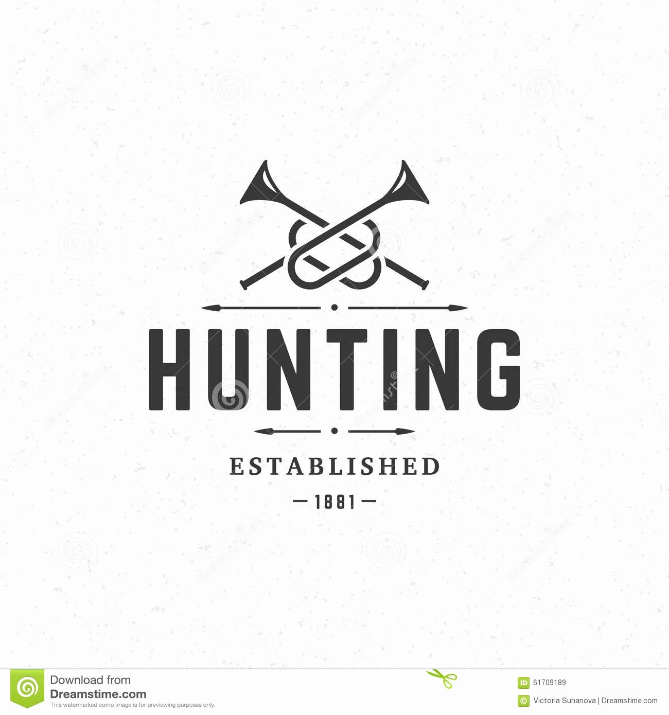 Hunting Logo Design Templates Unique Hunting Club Vintage Logo Template Emblem Stock Vector Illustration Of Logo Background