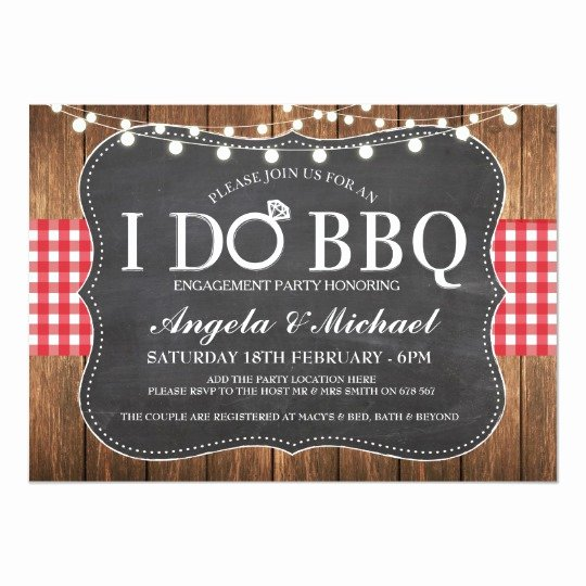 I Do Barbecue Invitations Awesome I Do Bbq Engagment Couples Shower Party Invite