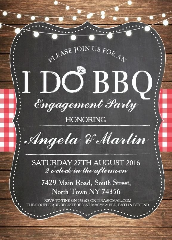 I Do Barbecue Invitations Beautiful I Do Bbq Engagement Party Invitation Personalize now In 2019