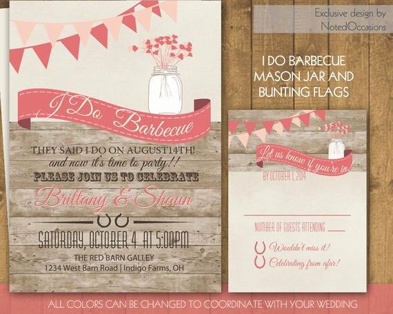 I Do Barbecue Invitations Beautiful I Do Bbq Wedding Invitation Wedding Reception by Notedoccasions