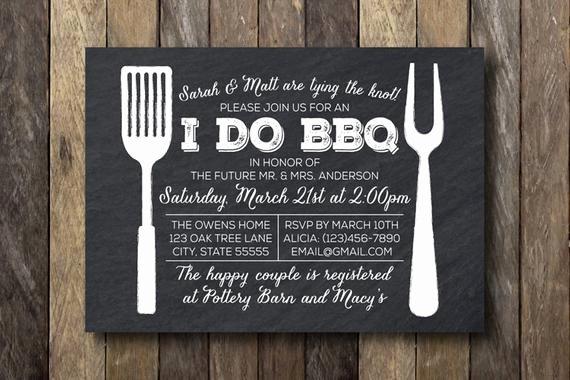 I Do Barbecue Invitations Elegant I Do Barbecue Invitation Engagement Party by thelionandthelark