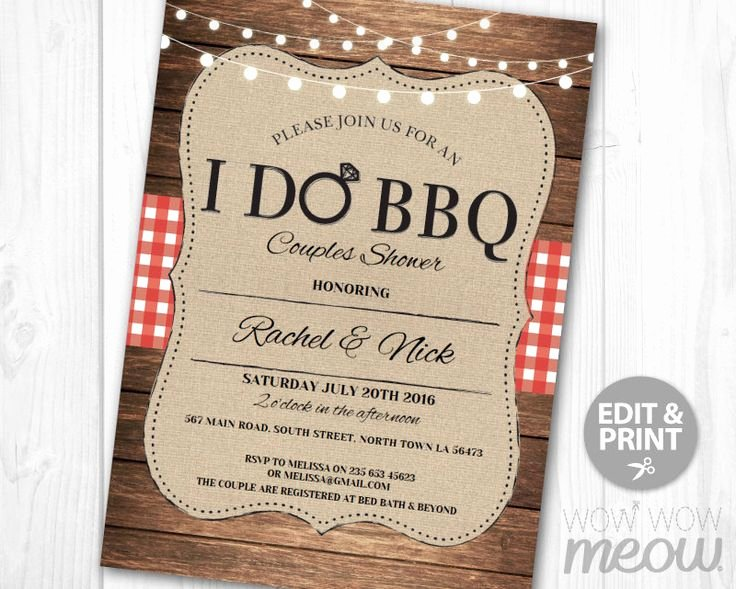 I Do Barbecue Invitations Elegant I Do Bbq Invitation Couples Shower Printable Invite Engagement Party Instant Download Lights
