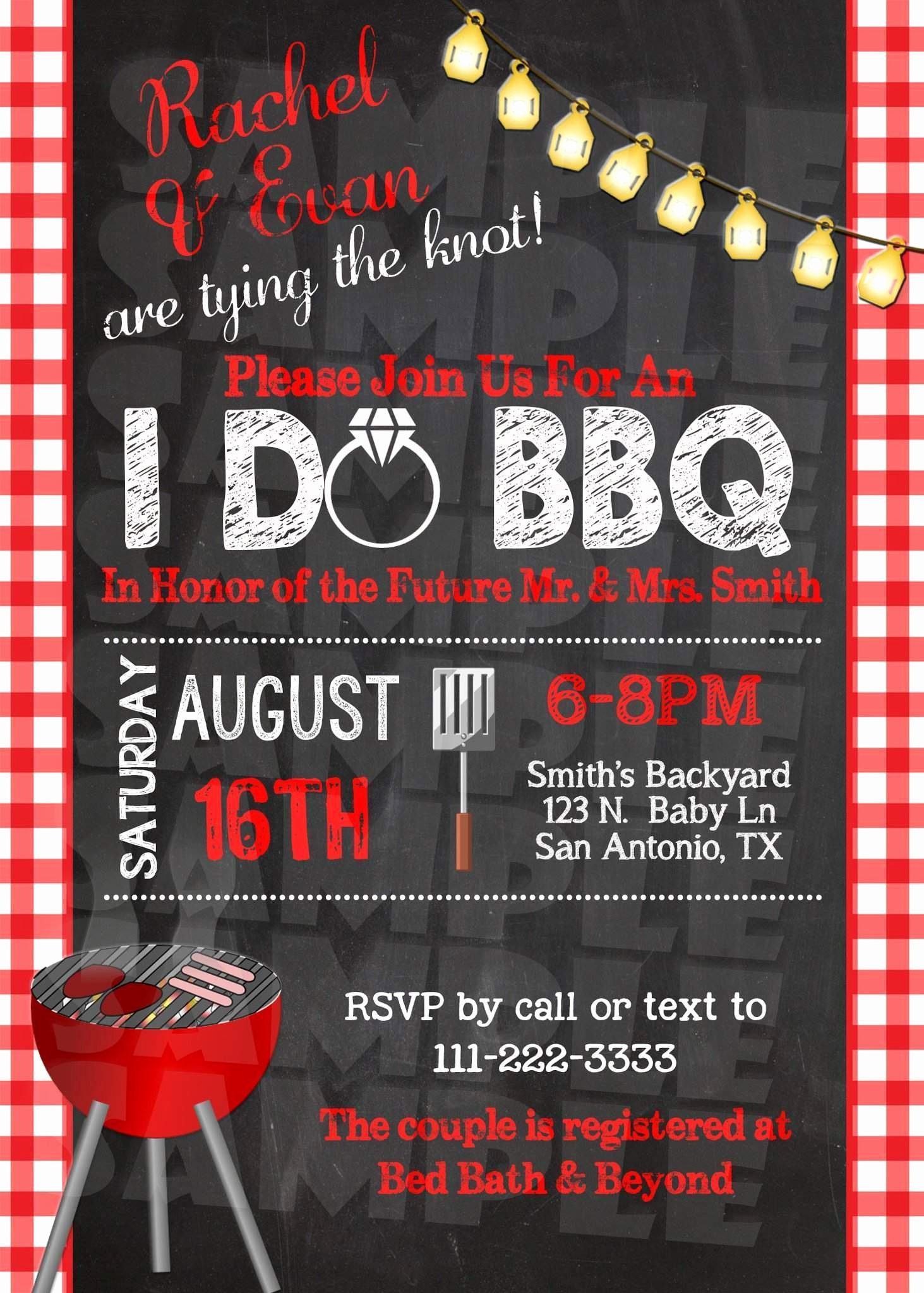 I Do Barbecue Invitations Fresh I Do Bbq Engagement Party Invitation forever Fab Boutique